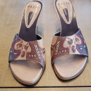 PAZZO  LEATHER SANDALS